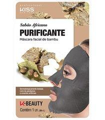 máscara facial de bambusabão africano kiss new york