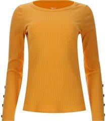 camiseta con botones en mangas color amarillo, talla 16