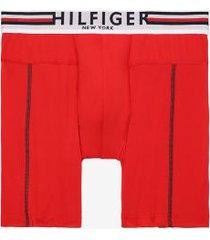 tommy hilfiger men's hilfiger microfiber boxer brief tango red - xxl