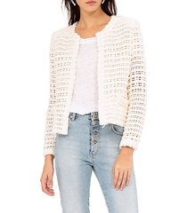 startle open-weave short jacket