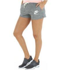 shorts nike nsw gym vintage - feminino - cinza escuro