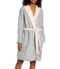 women's ugg portola reversible hooded robe, size x-small - metallic