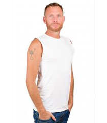 rj bodywear men t-shirt sleeveless white