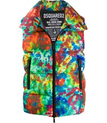 dsquared2 tie-dye padded vest