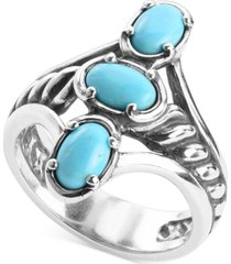 carolyn pollack turquoise statement ring in sterling silver