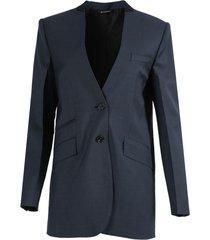 boxy over-sized navy blazer jacket
