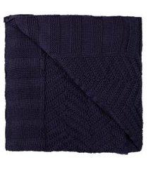manta tricot empório - azul