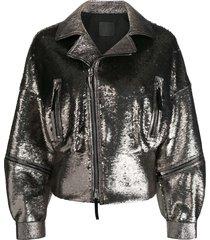 giuseppe zanotti autumn jacket - silver