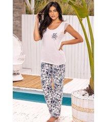 pijama mujer conjunto pantalón 11371