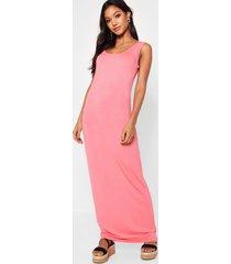maxi dress, coral