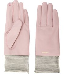 undercover two tone layered gloves - pink