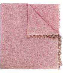 faliero sarti two-tone knit scarf - pink