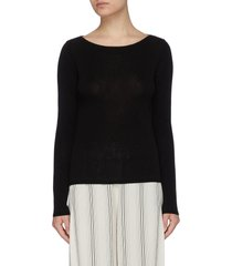 boat neck cashmere blend sweater