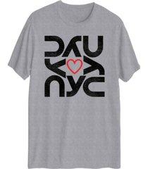 hybrid men's nyc heart short sleeve t-shirt