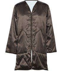 york coat doorgestikte jas bruin filippa k