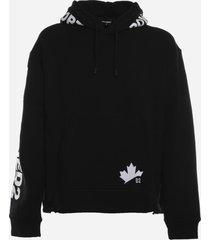 dsquared2 cotton sweatshirt with dsquared2 logo