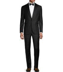 saks fifth avenue men's edwards regular-fit wool tuxedo suit - black - size 44 r