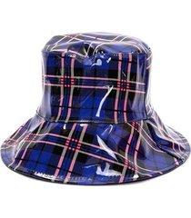 sombrero azul tropea piluso cuadros