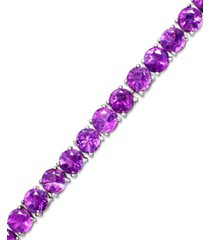 garnet sterling silver bracelet (20 ct. t.w.) (also available in amethyst, blue topaz and multi-stone)