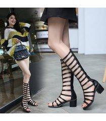 sandalias de gladiador con tiras de gladiador con tiras altas para mujer