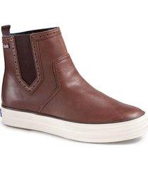 zapatilla cuero triple chelsea boot marrón keds