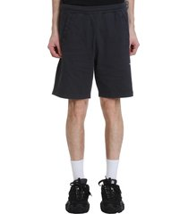 acne studios fort short shorts in black cotton