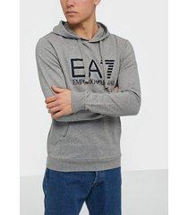 ea7 emporio armani train visibility m hoodie rn coft tröjor medium grey melange