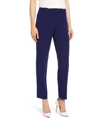 women's anne klein bowie crepe pants, size 0 - blue
