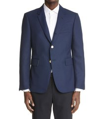 men's thom browne classic sport coat, size 1 - blue
