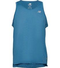 impact run singlet t-shirts sleeveless blå new balance