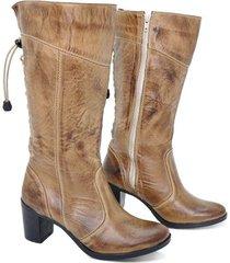bota feminina cano médio montaria bmbrasil 2000