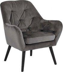 fotel welwetowy pikowany claire dark grey