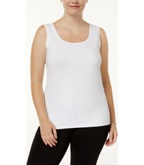 alfani plus size scoop-neck basic tank, created for macy's