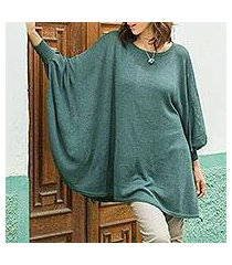 cotton blend sweater, 'valley breeze' (peru)