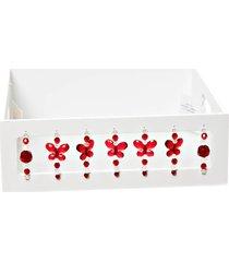 bandeja borboletas vermelhas potinho de mel branca - branco - menino - dafiti