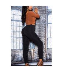 sexy basic thermo leggings zwart