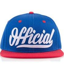 gorra azul official skate logo