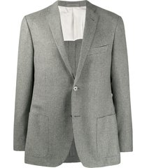 corneliani micro-pattern blazer - grey