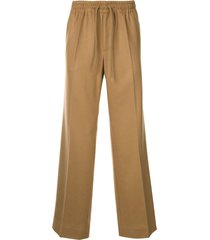 undercover ruched waistband track pants - brown