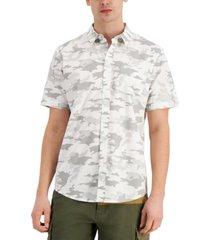 sun + stone men's snow camo shirt