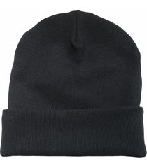 bawełniana czapka beanie czarna