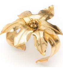 natori brass floral bracelet, women's, gold natori