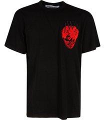 j.w. anderson left logo chest print t-shirt
