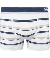cueca boxer mash logo branco - branco - masculino - poliamida - dafiti