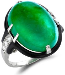 cartier 1911-1940 pre-owned platinum art deco jade and diamond ring -