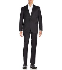 classic-fit solid wool suit