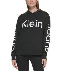 calvin klein jeans logo-print hooded sweatshirt