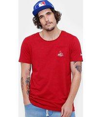 camiseta mlb st. louis cardinals new era mini logo retro masculina