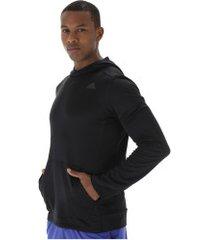 blusão com capuz adidas response hoodie - masculino - preto