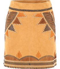 alberta ferretti ethnic mini skirt